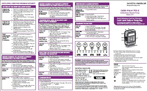 CADD PRIZM PCSII quick guide